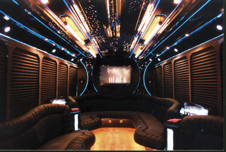 Montreal Limo Party Bus Interior